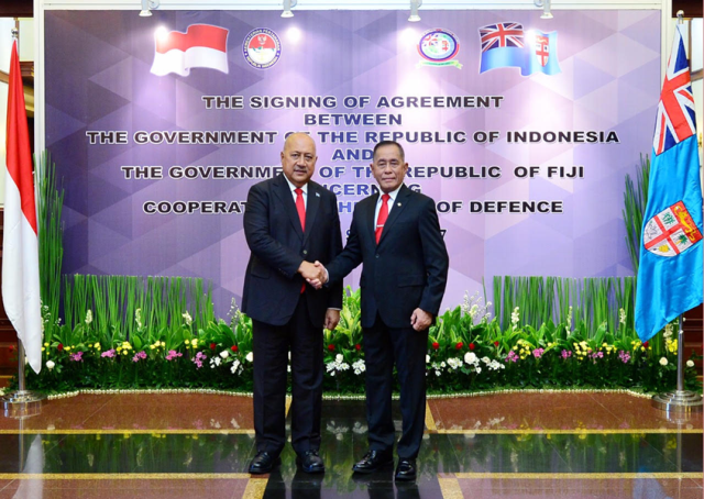 Both Ministers for Defence for the Republic of Fiji and the Republic of Indonesia in            Jakarta